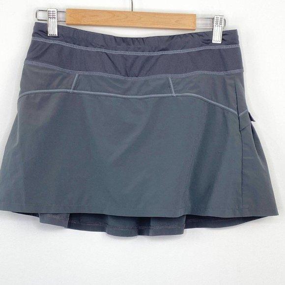 Athleta Grey Runaround Pleated Mini Tennis Skirt S